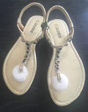 "Jasmine"" Size 41 Crystal Trim T/ Bar Sandals, Rrp$50"