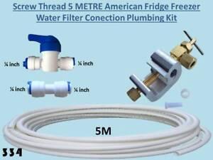 Screw Thread 5 METRE American Fridge Water Filter Conection Plumbing Kit 5M 334
