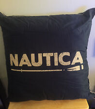 Dark Blue Nautica Logo Mainsail Large Decorative Throw Pillow