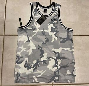 NIKE  Dri-Fit DNA Basketball Jersey Camo White/Grey/Black CD7713-012 Men's Large