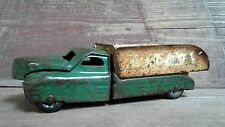 Vintage Green and Yellow Metal Dump Truck