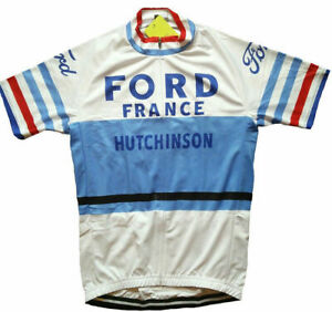 1966 Tour of France Cycling Jersey Short Sleeve Pro Clothing Maillot Vintage