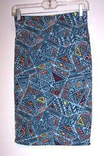 Lularoe Skirt XS Cassie Pencil Boho Hippie Aztec Stretch Knit