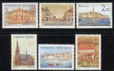 CROATIA 1995 CROATIAN TOWNS/ARCHITECTURE/BUILDINGS/CHURCH/CASTLE/BAY/SHIP/SEA