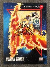 2013 Fleer Marvel Retro 1992 Universe HUMAN TORCH #6 Ryan Stegman Autograph Card