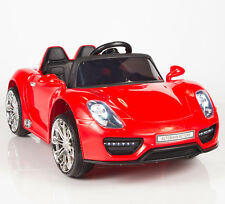12V Kids Ride On Car Battery Operated w/ Rc Remote Control Lights Mp3 Tunes Red