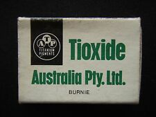 TIOXIDE AUSTRALIA PTY LTD BURNIE MATCHBOX