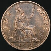 1887   Victoria One Penny   Bronze   Coins   KM Coins