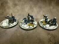 Warhammer 40k Astra Militarum Catchan Heavy Weapon Mortar Squad Well Painted