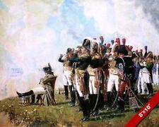 NAPOLEON & FRENCH GENERALS WATCH BATTLE OF BORODINO PAINTING ART CANVAS PRINT