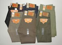 Levis 501 Original Fit Shrink-to-Fit Jeans Blue Beige Many Colors Sizes Green