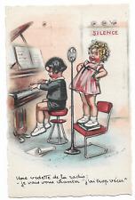 """CPA """" GERMAINE BOURET * Je vais vous chanter """" j'ai trop vécu """" ...  *"""