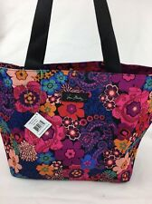 "VERA BRADLEY LIGHTEN UP LARGE FAMILY TOTE BEACH BAG ""FLORAL FIESTA"" NWT"