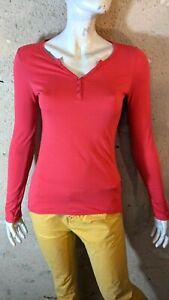 BERENICE Taille 36 Superbe tee shirt manches longues rouge AILES D'ANGE  T-shirt