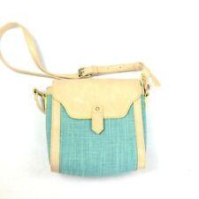 Nila Anthony Womens M Bag Crossbody Purse Blue Green Straw Bucket