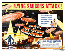 EARTH VS THE FLYING SAUCERS LOBBY CARD POSTER HS-B 1956 HUGH MARLOWE JOAN TAYLOR