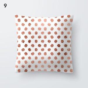 Throw Pillow Case Rose Gold Geometric Pillowcase Cushion Cover Sofa Home Decor