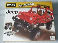 K'NEX Jeep Wrangler Building Set - 682 pieces brand new sealed