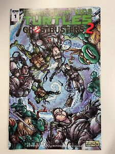 IDW TMNT/GHOSTBUSTERS 2 #1 KEVIN EASTMAN RI COVER : HTF! : NM CONDITION