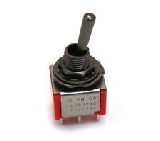 """(1) Black """"Bat"""" Lever ON-ON-ON DPDT Mini Toggle Switch Guitar/Bass EP-4180-003"""
