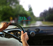 Durable 3.5 inch HUD HD Head Up Display Speed Direction Show Safty Driving Black