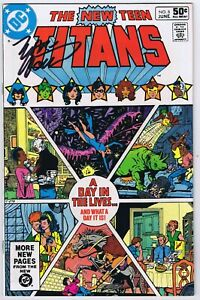 New Teen Titans #8 Very Fine Signed w/COA Marv Wolfman 1981 DC Comics