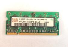 Hynix 512MB PC2-4200S Laptop Memory Ram Unbuffered • NON-ECC • DDR2-533