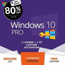 Genuine active your windows 10 version professional 32/64-Bit - License LIFETIME