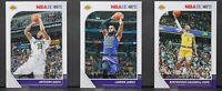 2019-20 Los Angeles Lakers 3 Cards Lot Anthony Davis Lebron James Caldwell-Pope