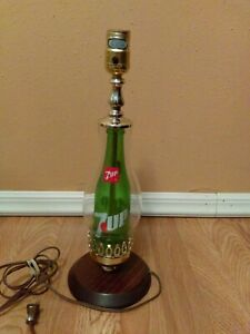 "Seven Up ""7UP Bottle in a Lamp"" Table Lamp 16 inches"
