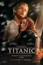 TITANIC 3D MOVIE POSTER 2 Sided 2012 RE-RELEASE ORIGINAL 27x40 KATE WINSLET