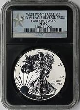 2013-W Early Releases West Point Silver Eagle $1 PF 69 NGC Black Retro Slab