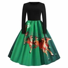 Floral Dresses Long Sleeve Winter Womens Party Cocktail Evening Christmas