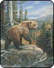 """BIG GRIZZLY BEAR GRIZZLIES DOMAIN Bedroom Bed HEAVY Weight Blanket 79"""" x 96"""""""