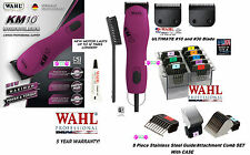 Wahl KM10 ULTIMATE DUTY CLIPPER&10,30 Blade&Stainless Steel Attachment COMB SETp