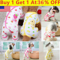 Pet Dog Warm Cottons Pajamas Clothes Puppy Cat Jumpsuit Coat Appare Winter Dress