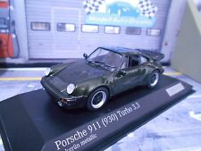PORSCHE 911 930 Turbo 3.3 G Modell oak grün green 1/200 Minichamps 1:43