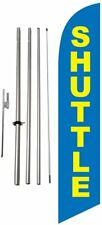 Shuttle Location Marker 15 foot Feather Banner Flag Kit Sign with Pole and...