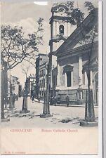 Gibraltar; Roman Catholic Church PPC, c 1900's, to Mrs Langley, Stoke