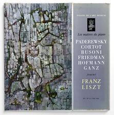 PADEREWSKI CORTOT BUSONI FRIEDMAN HOFMANN GANZ plays Franz Liszt piano ades 2 LP