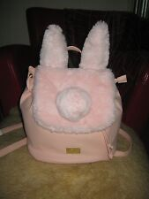 Adorable Luv Betsey by Betsey Johnson LB Buns Pink Soft Faux Fur Back Pack Bag