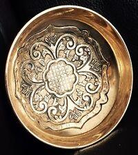 Heavy intricato & Antico Vittoriano fatto a mano ottone ciotola/piatto/posacenere Bonbon
