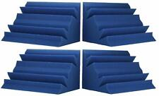 "New Level Ice Blue Acoustic Foam Bass Trap Studio Corner Wall 12"" X 7"" X 7"" 4."