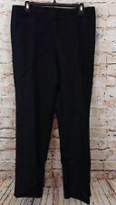 Focus 2000 black pants womens 10 linen blend slacks boot cut New O5