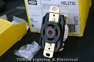 HUBBELL HBL2730 Twist-Lock Flush Receptacle 30A 3P 480VAC 3-POLE 4-WIRE hbl2730a