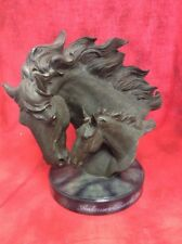 2006 Budweiser Mare and Foal Clydesdale Figurine Bronze Finish