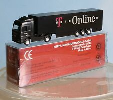 Herpa 065061, Spur N, MB Actros LH-Koffer-Sattelzug T-online, schwarz