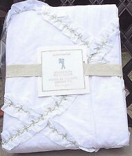 POTTERY BARN KIDS FASHIONISTA RUFFLES RUFFLE TWIN DUVET COVER ,SOLD OUT WHITE
