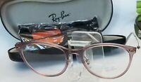New Authentic Ray Ban Eyeglasses RB 7160 5868 Translucent Taupe Light Ray  52mm