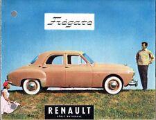 Renault Fregate 1956-57 UK Market Small Format Foldout Sales Brochure